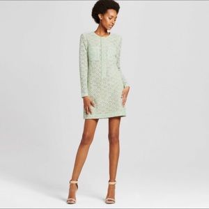 Victoria Beckham Mint Green Lace Dress Medium